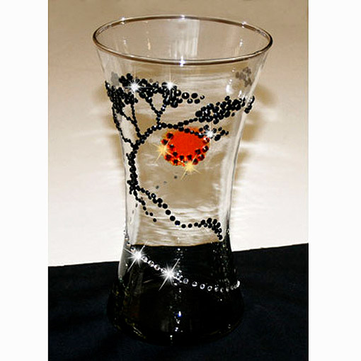 Украшение стеклянной вазы своими руками 63
